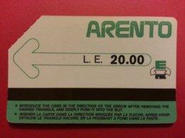 EGYPT 5 - ARENTO LE 20.00 Verso Sans Ligne En Bas 1987 Egypte Used URMET (BX1216 - Aegypten