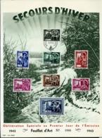 Format A4  Des N° 631/38  En Français  Obl. Bxl 15/11/43 (76 Ans Demain) - ....-1951