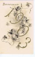 Bonne Année 1903, Gaufrée, Anges, édition Tannenzweig - New Year