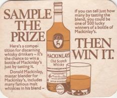 BEERMAT - MACKINLAYS SCOTCH WHISKY (EDINBURGH, SCOTLAND) - SAMPLE THE PRIZE - (Cat No 038) - Beer Mats