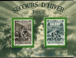 Format A5  Des N° 639/40  En Français   Obl. Bxl 23/02/44 - FDC