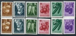 Y85 Bulgaria 1958 1079-1084 (A+B) Vegetables. Plants. Flora. Agriculture - Vegetables
