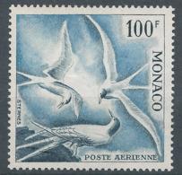 MONACO - 1957 - Poste Aérienne - Y.T. N°66 - 100 F. - Oiseaux De Mer - Hirondelles De Mer - Sternes - Neuf** - Luxe - Posta Aerea