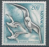 MONACO - 1957 - Poste Aérienne - Y.T. N°67 - 200 F. Bleu Et Gris-noir - Oiseaux De Mer - Mouettes - Neuf** - Luxe - Poste Aérienne