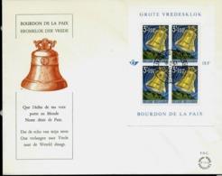 Bourdon De La Paix ; Bloc N° 34  Obl.  Bxl 18/02/63 - FDC
