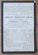 Carolus Dominicus Caers - Oud-Notaris, Echtgenoot Van Theresia Lanen / Gheel 6/11/1817 - Lichtaert 5/09/1894 / ETAT - Esquela