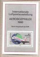 DDR - Foglietto Nuovo MNH Michel Block 59: Aviation - The 25th Anniversary Of Interflug Airlines - 1980 * G - Nuovi