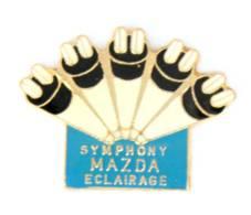 Pin's MAZDA Eclairages - Tubes Néon SYMPHONY - I763 - Merken