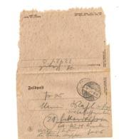 1944 PRISONNIERS DE GUERRE LETTRE DU CAMP MILITAIRE DE ECKARDTSHEIM POUR ..... - Marcophilie (Lettres)