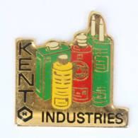 Pin's KENT INDUSTRIES - Emballages Et Flacons De Couleur - I774 - Merken