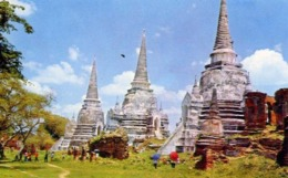 Three Pagodas Of Wat Phta Sri Sanphet - Ayudhya Middle Thailand - Formato Piccolo Non Viaggiata  E 14 - Cartoline