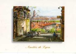 69 LYON Pentes De La Croix Rousse , Illustrateur Allain Renoux - Non Classificati