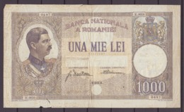 1000 Lei 15/3/1934 Roumanie / Romania Carol II. Used. - Rumänien