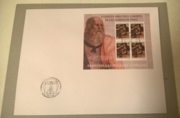 Vaticano (2019) Leonardo Da Vinci (500th Anniversary Of Death) - FDC With Full Sheetlet - Celebrità