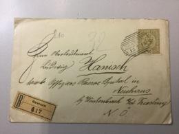 K8 Österreich 1918 R-Brief Von Gratzen Nach Neuhaus - 1850-1918 Empire
