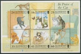 Alderney 1996 Katzen Block 2 Postfrisch (C90370) - Alderney