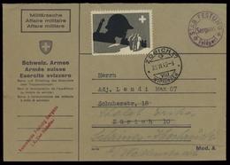 1943, Schweiz Soldatenmarken, Brief - Vignetten