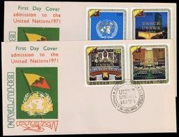 1971, Bhutan, 473-76, Brief - Bhutan