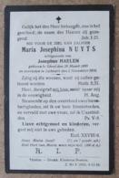 Maria Josephina Nuyts, Echtgenoote Van Josephus Haelen - Gheel 29 Maart 1890 - Lichtaert 2 November 1918 - Esquela