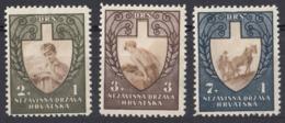 CROAZIA - 1943 - Serie Completa Di 3 Valori Nuovi MH/MNH: Yvert 69/71. - Kroatien