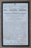 Maria Josephina Verboven, Echtgenoot Van FR.Remigius Geudens / Gheel 13 Februari 1868 - Lichtaert 22 Meert 1913 - Esquela