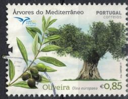 Portugal 2017 Oblitéré Used Arbres De La Méditerranée Olivier Oliveira Olea Europaea SU - 1910-... Republik
