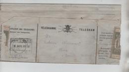 CBPN80/ Télégramme-Telegram Déposé à BXL Pour Sainte-Marie C.C.F. En Arrivée 18/5/1900 - Telegraph