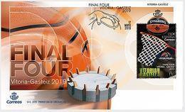 ESPAGNE SPANIEN SPAIN ESPAÑA 2019 BASKET FINAL FOUR VITORIA-GASTEIZ FDC ED 5318 MI 5350 YT 5057 - 1931-Heute: 2. Rep. - ... Juan Carlos I