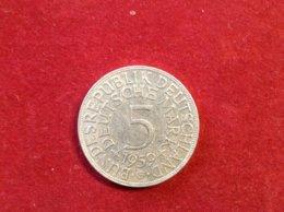 Münze BRD 5 Deutsche Mark Silber 1959 G Heiermann Jaeger 387 - 5 Mark