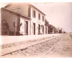 Photo Tirage Albuminé : La Gare De Sainte Pazanne (44) Avant 1900 - Lugares
