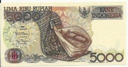 INDONESIE 5000 RUPIAH 1992 AUNC P 130 A - Indonesia