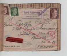 CBPN82/ Deutschland Hitler BM Express Cover 1943 Censored > France - Briefe U. Dokumente