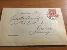 STORIA POSTALE AVVISO PUBLICAZIONE LIBRO 1914 - Vecchi Documenti