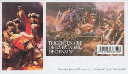 Enveloppe  FDC  1er  Jour    FRANCE   Bloc  Feuillet   Bataille  De  DENAIN  2014 - 2010-....