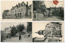 7 CP * BLOIS Hôtel Ville Château Rue Gallois Degrés Rue Denis Papin Tour D'Argent Escalier Monumental (animées) - Blois
