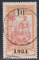 French Oceania, Scott #58, Used, Kanakas Surcharged, Issued 1921 - Oceania (1892-1958)