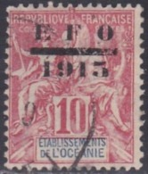 French Oceania, Scott #55, Used, Navigation And Commerce Surcharged, Issued 1915 - Oceania (1892-1958)