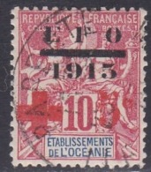 French Oceania, Scott #B1, Used, Navigation And Commerce Surcharged, Issued 1915 - Oceania (1892-1958)