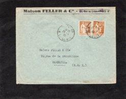 LSC 1939 - Entête Maison FELLER & Cie à PARIS (8è) - Cachets PARIS Sur YT 364 (x2) - 1921-1960: Periodo Moderno