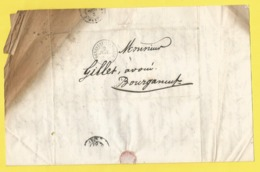 Lettre De 1860 Envoyée Par Un Habitant De Benevent L ' Abbaye ( Creuse ) Pour  Bourganeuf - Unclassified