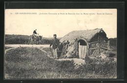 CPA Les Sables-D`Olonne, Jardinière Chaumoise Et Hutte De Douanier Dans Les Marais Salants, Frontière - Sables D'Olonne