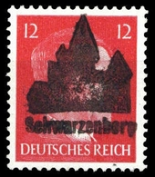 1945, Deutsche Lokalausgabe Schwarzenberg, 8 II, ** - Deutschland