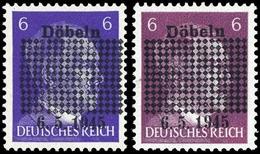 1945, Deutsche Lokalausgabe Döbeln, 1 A+b, ** - Duitsland