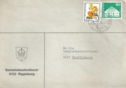 """Motiv Brief  """"Gemeinde Riggisberg""""           1973 - Schweiz"""