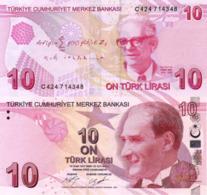 TURKEY, 10 Turkish Lira, 2017, P223, Series C, UNC - Turkije