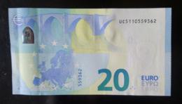 2015 France 20 EURO UC5110559xxx- UNC - 20 Euro