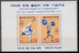 1972Korea South845-46/B3541972 Olympic Games In  Munchen8,00 € - Sommer 1972: München