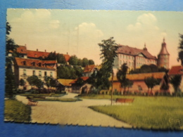 CPA   MONTBELIARD  LE CHATEAU  ET LE SQUARE RESENER  1937 - Montbéliard