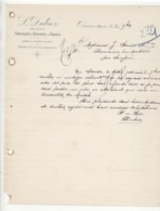 Doubs: L. DUBIEZ Spécialité ABSINTHE & KIRSCH à Ornans / Fact De 1906 TB - 1900 – 1949