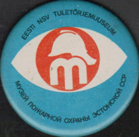Badge Soviet Estonian Fire Museum - Bomberos